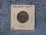 1898O BARBER QUARTER (A BETTER DATE) VF