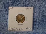 1907 $2.50 LIBERTY GOLD PC. AU