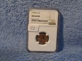 1952D LINCOLN CENT NGC MS66 RD