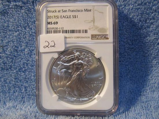 2017(S) SILVER EAGLE NGC MS69