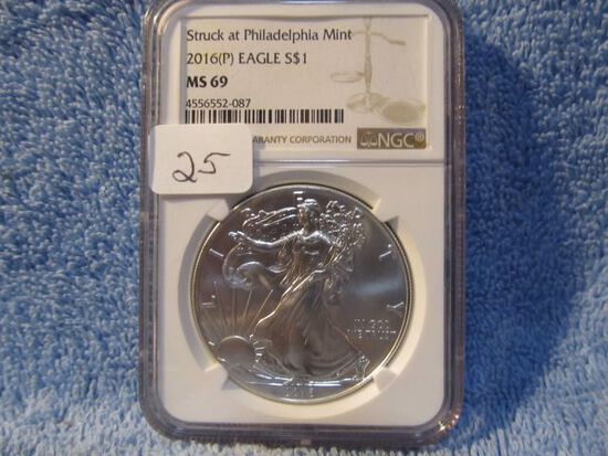 2016(P) SILVER EAGLE NGC MS69