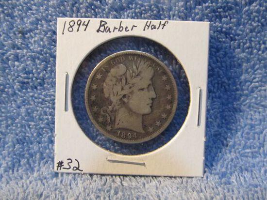 1894 BARBER HALF VG+