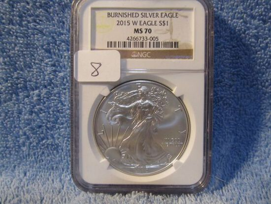 2015W SILVER EAGLE NGC MS70 BURNISHED