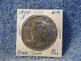 1924S PEACE DOLLAR BU