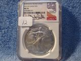 2013W SILVER EAGLE NGC MS70 BURNISHED MIKE CASTLE SIGNATURE