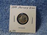 1944 MERCURY DIME BU