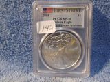2018 SILVER EAGLE PCGS MS70 FIRST STRIKE
