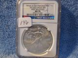 2013(S) SILVER EAGLE NGC MS70 FIRST RELEASES