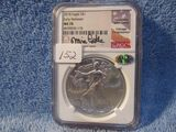 2018 SILVER EAGLE NGC MS70 FIRST RELEASES MIKE CASTLE SIGNATURE