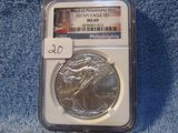 2017(P) SILVER EAGLE NGC MS69
