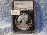 2017S SILVER EAGLE NGC PF70 ULTRA CAMEO EARLY RELEASES