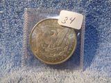 1886 MORGAN DOLLAR (NICE TONING) BU