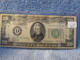 1934C $20. REDERAL RESERVE NOTE CLEVELAND, OH. STAR NOTE