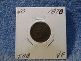 1870 INDIAN HEAD CENT KEY DATE VF+