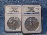 2007,2008, WEST POINT EAGLES BOTH NGC MS69