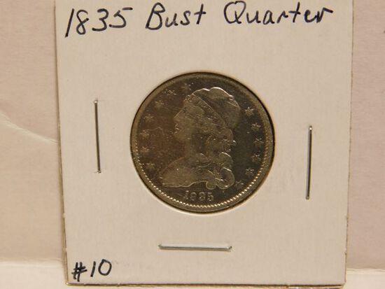1835 BUST QUARTER