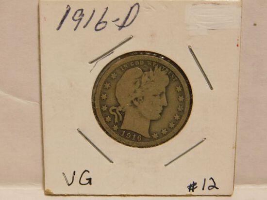 1916D BARBER QUARTER G