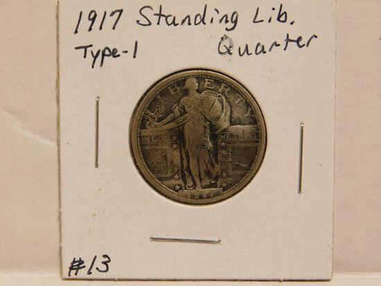 1917 TYPE-1 STANDING LIBERTY QUARTER