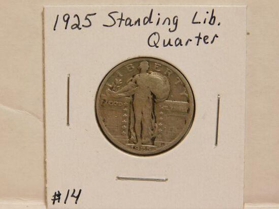 1925 STANDING LIBERTY QUARTER F