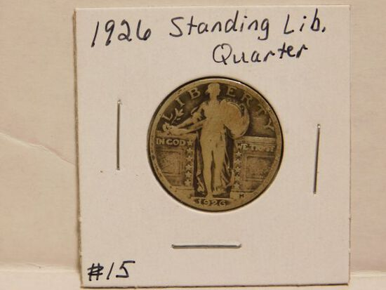 1926 STANDING LIBERTY QUARTER VG