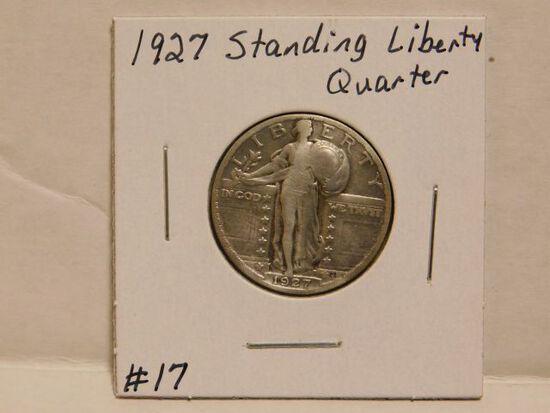 1927 STANDING LIBERTY QUARTER F