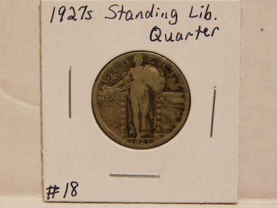 1927S STANDING LIBERTY QUARTER (SEMI KEY) F