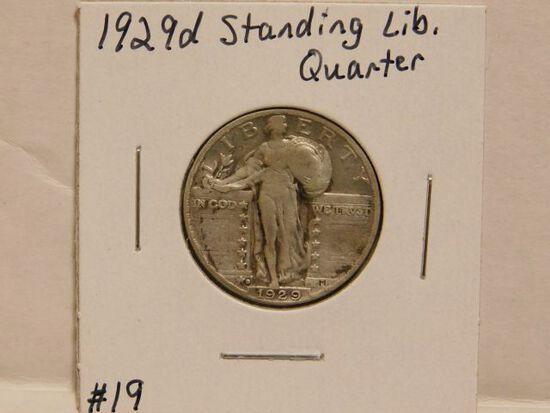 1929D STANDING LIBERTY QUARTER VG