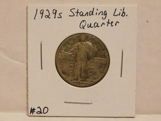 1929S STANDING LIBERTY QUARTER F