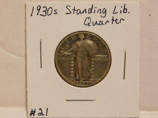 1930S STANDING LIBERTY QUARTER F