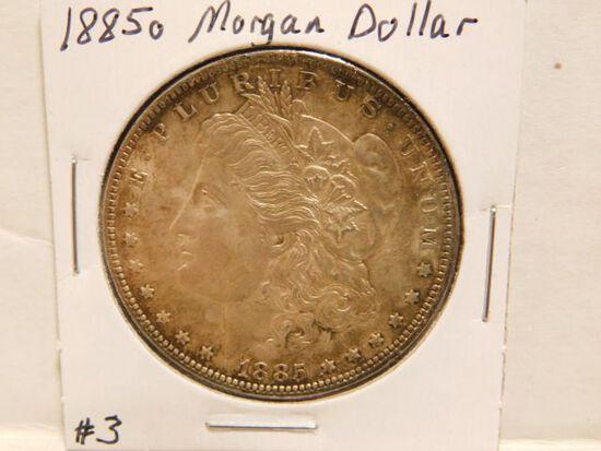 1885O MORGAN DOLLAR (TONING) BU