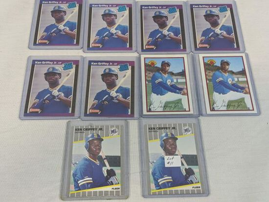 Lot of 10 1989 Ken Griffey Jr Rookie Cards