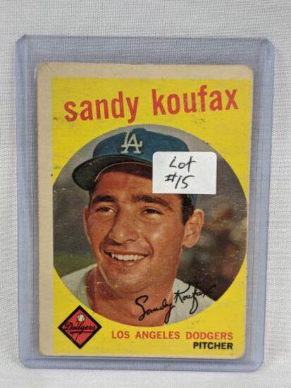 1959 Topps Sandy Koufax Card #163