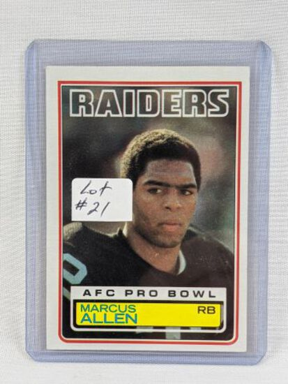 1983 Topps Marcus Allen Rookie Card #294