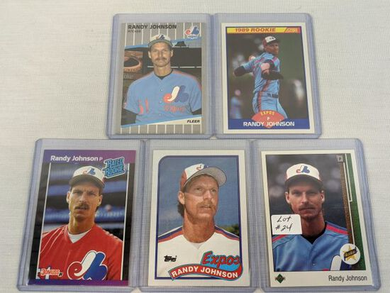 Lot of 5 Randy Johnson Rookie Cards