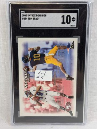 2000 Skybox Dominion Tom Brady Rookie Graded SGC 10