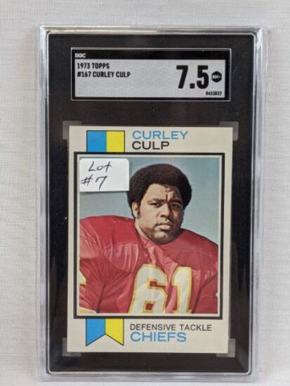 1973 Topps Curley Culp Rookie Graded SGC 7.5