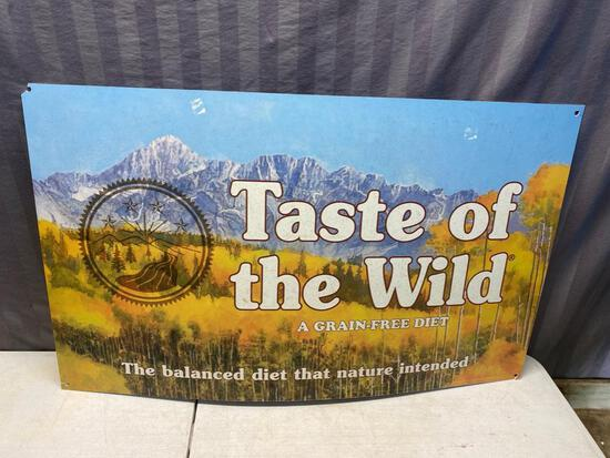 Taste of the Wild Plastic Sign