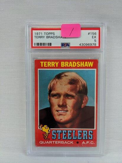 Terry Bradshaw '71 Topps rookie, PSA