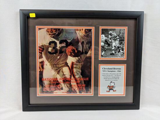 1964 Browns Champ program display