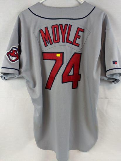 Cleveland Indians game used jersey