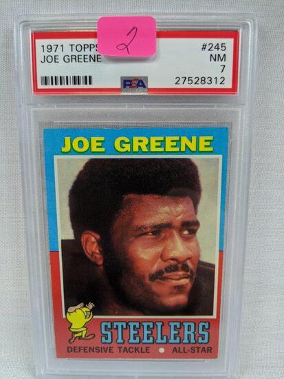 Joe Greene rookie '71 Topps, PSA