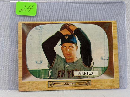 1955 Bowman : Wilhelm card #1!