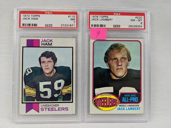 Lambert & Ham rookie cards, PSA