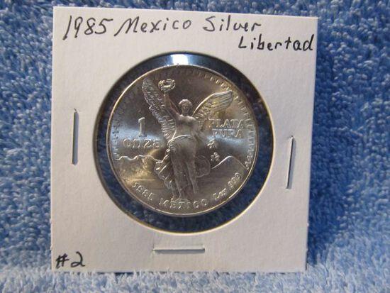 1985 MEXICO 1-OZ. .999 SILVER LIBERTAD BU