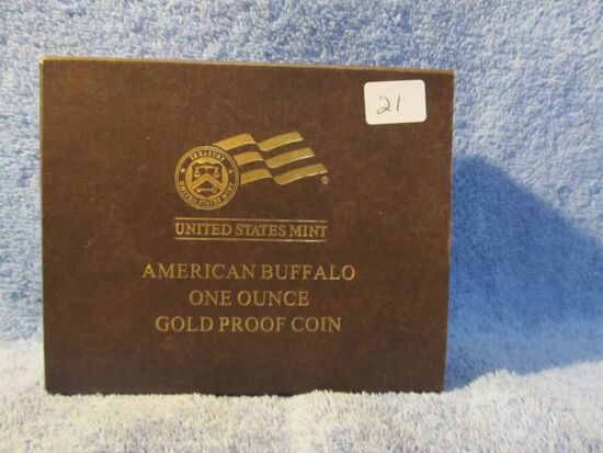 2011W 1-OZ. GOLD BUFFALO IN HOLDER PF