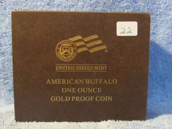 2012W 1-OZ. GOLD BUFFALO IN HOLDER PF