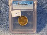 1901S $5. LIBERTY HEAD IN ICG MS62 HOLDER
