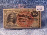 1863 FRACTIONAL 15-CENT NOTE RARE CU