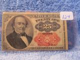 1874 FRACTIONAL 25-CENT NOTE RARE CU