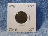 1866 INDIAN HEAD CENT XF